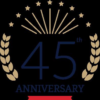 45th Anv Logo